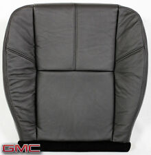 2008 GMC Sierra 2500HD Allison 4x4 SLT -Driver Bottom Leather Seat Cover BLACK