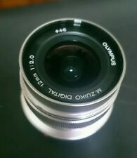 Olympus M.Zuiko 12mm f/2.0 ED Lens Micro Four Thirds (Silver)