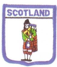 SCOTLAND PIPER embroidered patch SCOTTISH BAG PIPES