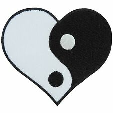 Yin Yang Tao Taoism Aum Om Yoga Heart Hippie Chinese Peace Iron-On Patch #AU030