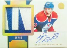 /93 RYAN NUGENT HOPKINS ROOKIE HORIZONTAL GOLD PATCH AUTO 2011 11 12 DOMINION