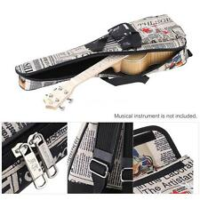 "21"" UKE Soft case Ukulele gig bag for Soprano Concert uku Newspaper style Q9H1"