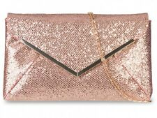 New Ladies Sparkling Glitter Handbag Bridal Party Evening Prom Clutch Envelope