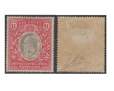 British Central Africa stamps 1903 EDWARD VII 1 Pound grey-carmine MH -!- F325