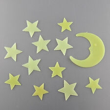2 Sets Moon Star Noctilucent Glow In The Dark Wall Sticker Kid Decal
