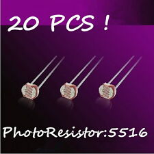 Brand New 20Pcs Photo Light Sensitive Resistor 5516 GL5516 Photoelectric Sensors