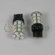 2 x Bombillas 27 LED SMD Rojo T20 7443 W21/5W Coche, Posicion, Freno, Moto...