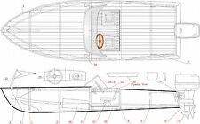 ... PLANS ONLY 2 in 1 Runabout/Speed Boat/Power Boat - RC Model Boat