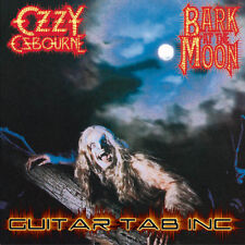 Ozzy Osbourne Guitar & Bass Tab BARK AT THE MOON Lessons on Disc