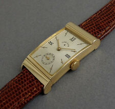 LORD ELGIN ASYMMETRIC 14K SOLID GOLD Art Deco Vintage Watch 1946