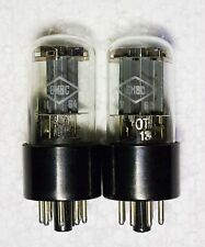 NEW TESTED/MEASURED PAIR 6N8S FOTON = 6SN7 = ECC32 = 1578 tubes 60's OTK