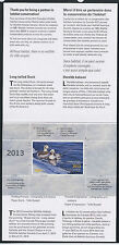CANADA 2013 DUCK STAMP IN FOLDER  LONG TAILED DUCK by  Claude Thivierge