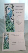 25 PEACOCK WEDDING INVITATIONS + 25 RSVP CARDS CUSTOMIZED AND PERSONALIZED 4 U