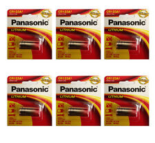 6 Pcs Panasonic CR-123A DL 123 Batteries, 3V Lithium Photo Battery 2025 DATE