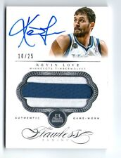 KEVIN LOVE 13 PANINI FLAWLESS 2 COLOR PATCH JERSEY AUTO AUTOGRAPH CARD #10/25!