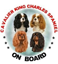 2 Cavalier King Charles ON BOARD Stickers By Starprint