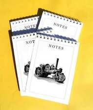 Aveling and Porter Road Roller Steam Engine, Pack of 4 A6 Note Pads Set