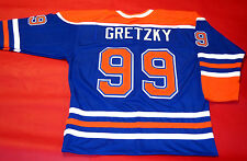 WAYNE GRETZKY CUSTOM EDMONTON OILERS THROWBACK JERSEY THE GREAT ONE