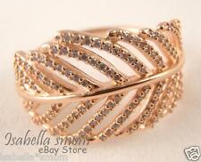 LIGHT AS A FEATHER Authentic PANDORA ROSE GOLD Plated CZ Stones RING 7/54 NEW