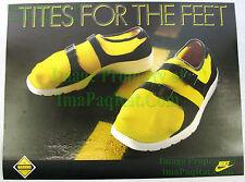 NITF Vintage 1986 NIKE Running Poster ☆ Sock Racer ☆ Tites For The Feet