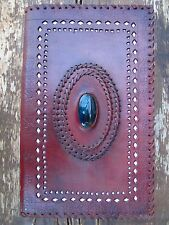 Beautiful Large Handmade Leather Blank Diary / Journal Sketchbook Powerful Piece
