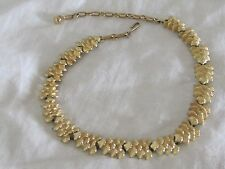 Vintage Jewelry Choker Collar Necklace Coro GOLD TONE Christmas Tree Link