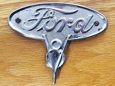 1935 & 1936 FORD V8 Original Truck Hood Emblem Ornament Chrome Badge
