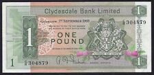 SCOTLAND CLYDESDALE BANK 1969 1 POUND P-202   XF