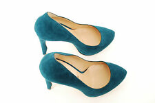 Nicholas Kirkwood Women`s Dress Shoes Scarpa Camoscio Green Teal Suede  BCF59