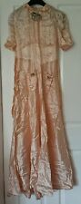 Antique/vintage wedding bridesmaid's dress possibly 1940s  apricot colour