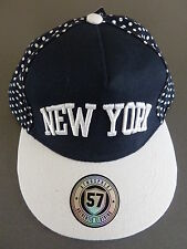 NEU Snapback Kappe NEW YORK Baseball Cap Authentic 57 Hipster  Blau Weiß BASECAP