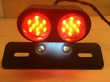 Cafe Racer Bobber Custom Motorcycle Twin Round Stop & Tail Rear Brake Light LED