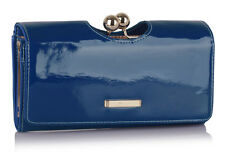 Ladies Women's Fashion Quality Purse Shiny Faux Leather Crystal Bubble Wallet