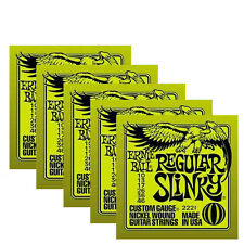 Ernie Ball electric guitar strings 10 gauge ( 5 sets )