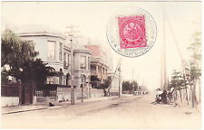 JAPAN: 1900 Tinted Post Card Franked with Sc#112 + 1906 Triumph. Mil. Rev Pstmrk