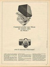 Publicité 1966  Appareil photo NIKON avec le nouveau Nikkormat !