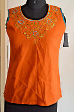 Blue berry India ethnic orange Girls choli tunic kurta top M NWT