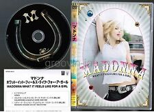 MADONNA  What It Feels Like For A Girl JAPAN DVD WPBR-90031 w/INSERT Free S&H