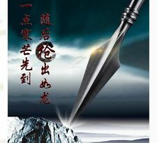 Chinese Martial Arts Hammered Steel Spearhead Wushu Spear Head KungFu Saber