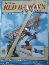 BUILD THE RED BARON'S FIGHTER PLANE FOKKER DR1  HACHETTE  ISSUE  27  NEW SEALED