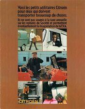 Citroen spots lumineux 1971-72 marché français sales brochure 2CV ami mehari