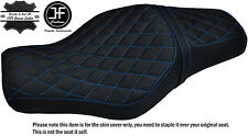 L BLUE DIAMOND ST CUSTOM FOR HARLEY SPORTSTER 883 1200 TWO UP VINYL SEAT COVER