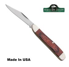 Bear&Son® Peanut pocket knife Made in USA with Rosewood Handle Free Ship