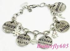 Brighton B MERRY XMAS Charm Holiday Bracelet - NWT