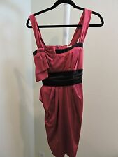 Mystic Polyester Blend Red & Black Cocktail Dress - Size - Large