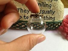 5 MiX Glass Pendant Globe Charm Wide Opening Bottle Vial 20*15mm Siver&bronze