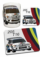 Peugeot 205 T16 Rally Car Collection - Mug, coaster & Mouse Mat