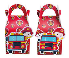 FIRE ENGINE TRUCK FIREMAN PARTY BOXES THEMED KIDS BIRTHDAY SUPPLIES DECORATIONS