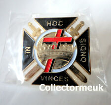 ZP455 Knights Templar Shield Crusader St George Crusade Cross Pin Badge