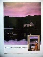 PUBLICITE-ADVERTISING :  JOHNNIE WALKER Jour s'éloigne 1990 Whisky,Alcool,Barque